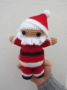 Santa Claus tejido a #ganchillo con patrón