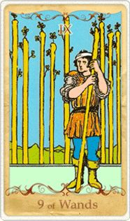 We meet the 9 of Wands in our #dailytarot journey today, and we see a wounded man that is weary from battle. What he does not know is that he has the power within to move above and beyond the forces that are holding him back. The way out is right in front of him. Will you take it? Or will you sit in your sorrows? You are in control of your destiny.