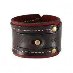 Dual Lock Bracelet - Dark Burgundy-Chromexcel/ Maroon-Chamois
