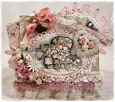 Card by LLC DT Member Tracy Payne, using papers from Maja Design's Vintage Autumn Basics Collection and a LOTV image.
