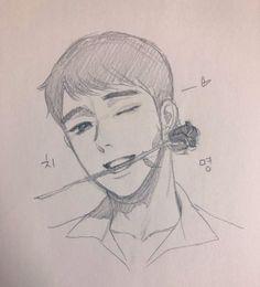 Kpop Drawings, Anime Drawings Sketches, Anime Sketch, Cute Drawings, Anime Character Drawing, Character Art, Otaku Anime, Anime Art, Drawing Expressions