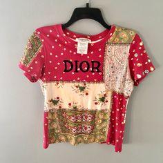 c7f3da79601 AUTHENTIC vintage patchwork Christian Dior shirt❕❕ Very 90s - Depop Dior  Boutique