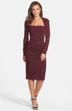 Maggy London Square Neck Lace Sheath Dress