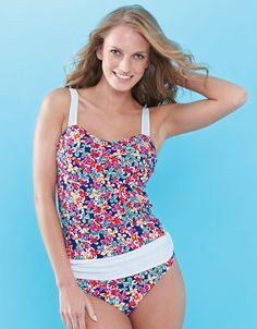 bf961deeea6 Swimsuit Swimwear Tankini Balconette Top by Free Gottex Size 34DD Floral  #Gottex #TankiniTop Floral