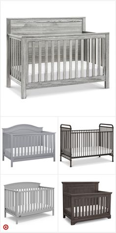 Shop Target for standard full-sized crib you will love at great low prices. Free shipping on orders of $35+ or free same-day pick-up in store. Baby Nursery Furniture, Baby Nursery Decor, Baby Decor, Nursery Room, Girl Nursery, Nursery Ideas, Wooden Baby Crib, Baby Crib Diy, Baby Cribs