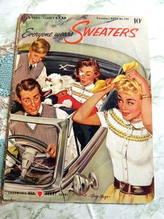 1950s Vintage Everyone Wears Sweaters by HookStitchTreasure, $3.00