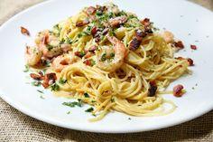 Shrimp Spaghetti Carbonara Recipe
