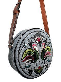 Colourful, polish folk inspired bag  folklor łowicki
