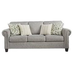 Shop for the Ashley Signature Design Alandari 9890938 Transitional Sofa with Rolled Arms at Dunk & Bright Furniture - Your Syracuse, Utica, Binghamton Furniture & Mattress Store Living Room Sofa, Living Room Furniture, Living Rooms, Transitional Sofas, Queen Sofa Sleeper, Sleeper Sofas, Recliners, Home Theater Furniture, Queen Memory Foam Mattress
