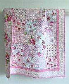 Adorable Baby Girl Quilt with Tiny Pink Roses