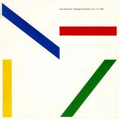 Anton Stankowski Catalogue, Staatsgalerie Stuttgart, 1985