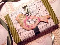 Sweet little bird topper!!! Bebe'!!! Love the double wrapping paper!!!