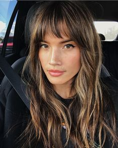 Currently Trending: The Coolest Celebrity Haircuts to Copy for Summer promi frisuren 30 Sexiest Wispy Bangs You Need to Try in 2019 Short Thin Hair, Long Hair With Bangs, Wispy Bangs, Cut Side Bangs, Long Wavy Hair, Long Layered Hair, Short Blonde, Long Curly, Thick Hair