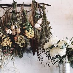 Life after bloom. Ideas for your flowers post-bloom afterlife that are silly simple. Dried Flower Arrangements, Dried Flowers, Lotus Flowers, Deco Pizzeria, Planting Flowers, Potpourri, Herbalism, Floral Wreath, Bouquet