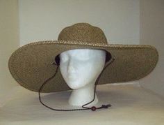 47a81840443 Womens Floppy Wide Brim Packable Sun Hat Two Tone Black w Chin Strap