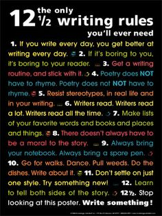 I need to read this daily and get back into writing.