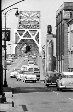 2nd Street Bridge, Louisville, Ky 1950's