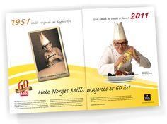 Mills 60 år annonse
