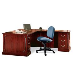Hon 94000 Series Right Single Pedestal Desk Mahogany Item 755204