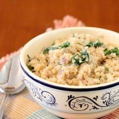 Spinach Parmesan Quinoa by lisasdinnertimedish