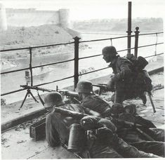 Estonian soldiers defending the western side of the Narva river.