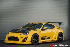 Toyota GT86 в аэродинамическом обвесе Varis Wide style Желтого цвета.                                                           На сайте: http://www.farpost.ru/khabarovsk/auto/gt/aerodinamicheskij-obves-varis-toyota-gt-86-subaru-brz-51042764.html по цене 177150 рублей
