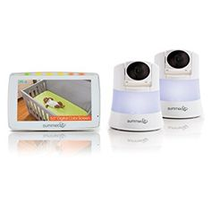 Summer Infant WIDE VIEW 2.0 DUO Digital Color Video Baby Monitor Set