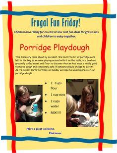 Porridge Playdough!