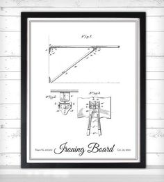 Vintage Laundry Print - Ironing Board by Lettered & Lined on Scoutmob Shoppe