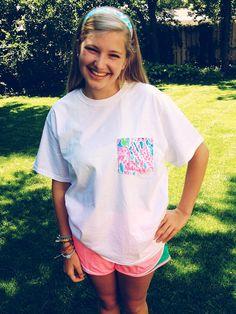 lilly pulitzer pocket t-shirt
