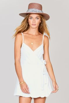 The Keep It Breezy Jumper is a textured knit with a faux wrap, adjustable straps, and inner lining. Online Clothing Boutiques, Jumper, Camisole Top, White Dress, Tank Tops, Cotton, Shopping, Clothes, Dresses