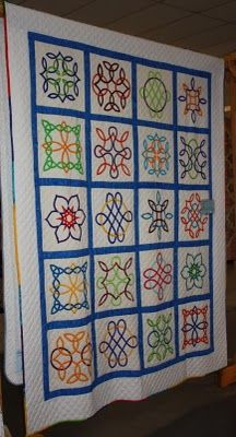 Lots of knots... Most of the block designs are by Philomena Durcan.