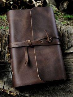 Dark Brown Strap Travel Journal