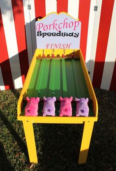 Pig Race Game Lawn Games Carnival Games Backyard Game