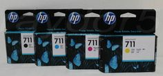 HP 711 Ink Cartridges Bk CZ129A Cyan CZ130A Magenta CZ131A Yellow CZ132A  #HP