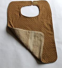 Adult Bib   Clothes Protector  Reversible   by Grandmasandeze