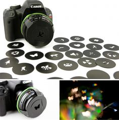 camera lens covers to play with shape and light