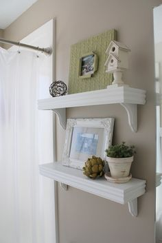 Ballard Knockoff Shelves Tutorial.  Ballard shelves start at $38 and these cost less than $15 to make!Plus I think these are cuter!