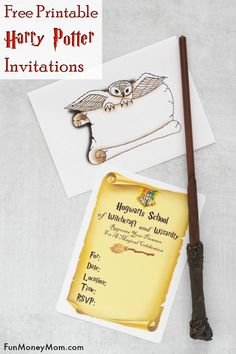Harry potter invitations - need harry potter party invitations? these free printable invitations are perfect for any harry potter themed party. Deco Harry Potter, Harry Potter Free, Harry Potter Classroom, Harry Potter Gifts, Harry Potter Birthday, Free Printable Invitations, Birthday Invitation Templates, Party Invitations, Harry Potter Invitations
