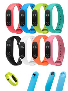 [Visit to Buy] For Xiaomi Mi Band 2 Bracelet Strap Colorful Strap Wristband Replacement Smart Band Accessories For xiomi Mi MiBand 2 Silicone #Advertisement