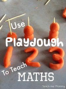 Use Playdough to teach Maths