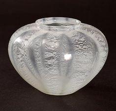 Helderglazen Sonoor lentebloem vaasje met craquelé ontwerp A.D.Copier 1935 uitvoering Glasfabriek Leerdam