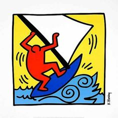 Keith Haring really had such humor in his work Keith Haring Prints, Keith Haring Art, Jm Basquiat, Pop Art, Arts Integration, Blue Boat, All Nature, Famous Artists, Graffiti Art