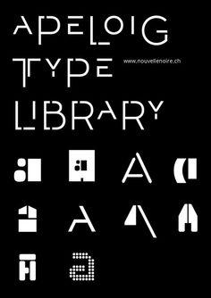 - A & a / Philippe Apeloig – Apeloig Type Library, Nouvelle Noire.
