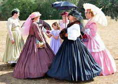 Civil War Reenacting: How-To Wear Victorian Period Dresses