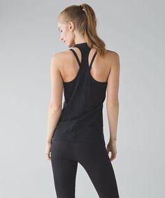 2f4aa3d4050cc Lululemon Cool Racerback - Black Lace Camo Laser Cut sz 12 Stretch Fabric