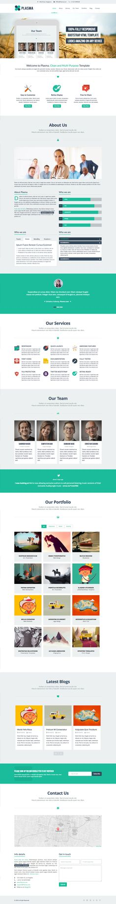 The free file of the month over at ThemeForest is, lucky for us, a pretty decent one page HTML template titled 'Plasma'. This responsive HTML template comes with all the bells and whistles you'll need to create an online portfolio - About, Services, Team, Isotope Portfolio, Testimonials, a Blog Feed and a pretty neat AJAX Contact Form.
