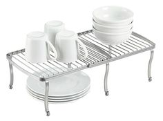 York-Expandable-Shelf $20  York Expandable Shelf to double your storage space. Maximize vertical shelf space while enjoying easy access to dishes, glassware or pantry items. $19.99 – Containerstore.com