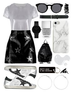 """""""BandS"""" by linjimenez ❤ liked on Polyvore featuring Related, Boohoo, Golden Goose, Nails Inc., T-shirt & Jeans, Various Projects, Valentino, CLUSE, M&Co and Recover"""