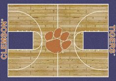 Clemson Rug University Basketball Court